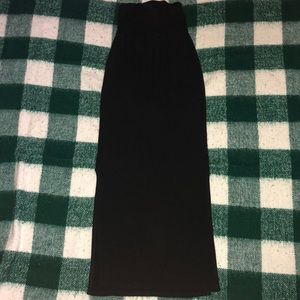 Black long pencil skirt